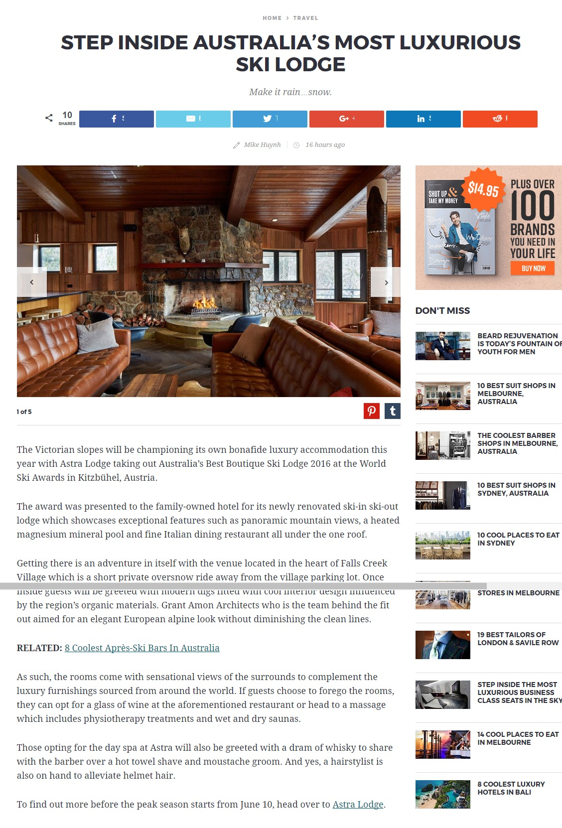Step Inside Australias Most Luxurious Ski Lodge