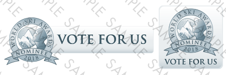 World Ski Awards Nominee Vote For Us buttons