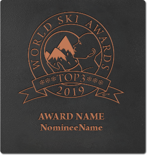 World Ski Awards top 3 wall plaque