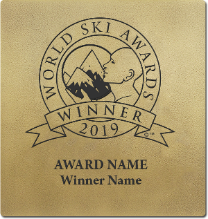 World Ski Awards winner wall plaque